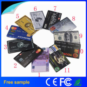 Free Color Printing Plastic Credit Business Card Pendrive
