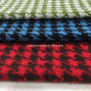 Loop Houndstooth Wool Fabric Overcoat pictures & photos