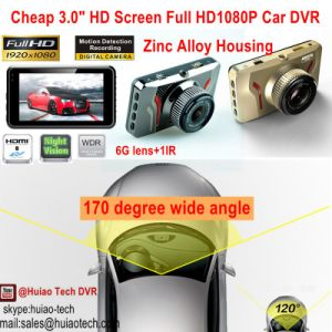 "Hot Sale 3.0"" HD Screen Full HD1080p Car DVR in Dash Hidden Car Black Box Built in 6g Lens, 170degree View Angle, WDR, Motion Dectection, Car Camcorder DVR-3014 pictures & photos"