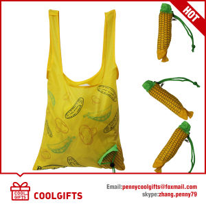 Customized Fruit Folding Nylon Bag with Corn Shape for Promotion Gift pictures & photos