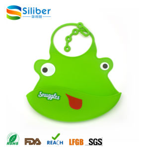 Size Adjustable Soft Cute and BPA Free Baby Silicone Bib