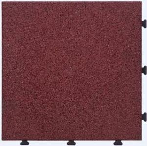 European Standard Rubber Tile Interlocking Non Slip Flooring Tile