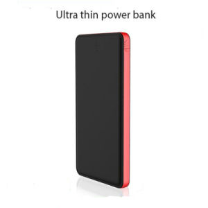 14.3mm Thickness Built-in Adapter Charging Cable 10000mAh Slim Power Bank pictures & photos