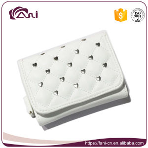 2017 Best Selling Women Wallet with Coin Slot, White Small PU Ladies Purses pictures & photos