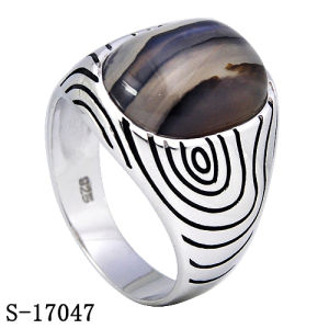 New Arrival Sterling Silver Jewelry Ring with Natural Agate pictures & photos