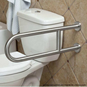 Polished Shower Room Toilet U Shape Grab Bar for Disable