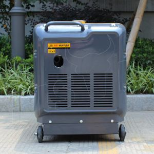 Bison (China) AC Single Phase Reliable Home Use Portable 3500 5500 6500 7500 Watt Silent Diesel Generator pictures & photos