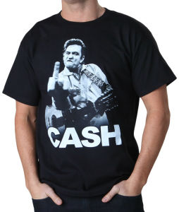 Johnny Cash Flippin Printed Logo Casual T Shirt (A180)