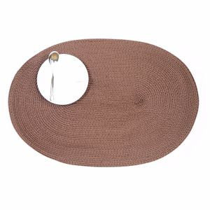Oval 100% Polyester Placemat for Tabletop