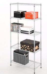Chorm Plate Metal 5-Tries Wire Shelving Rack