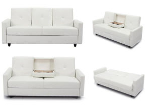 Modern Entertainment Sofa Bed With Cup Holders Furniture Hc057