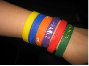 New Hot Promotion Fashion Cool Silicone Wristbands, Wrist Bands, Rubber Bracelets -New, Debossed, Embossed,