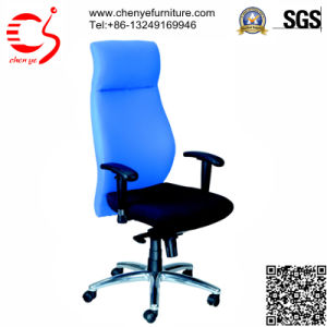 Blue Comfortable Headrest Swivel Office Fabric Chair (CY-C2083STG)