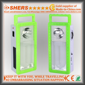 Rechargeable Solar Emergency Light with 1W Flashlight, USB Outlet (SH-1903A)