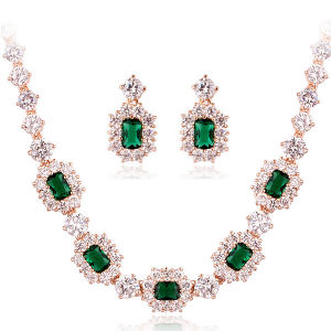 China Authentic Austrian Emerald Green Crystal 18k Gold Plated ... fdb83560de87