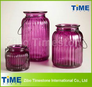 Purple Color Hanging Glass Candle Holder pictures & photos