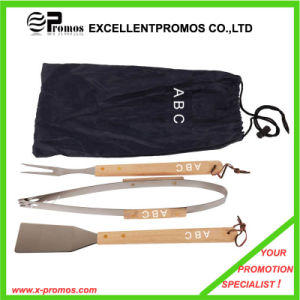 Promotion BBQ Tools Set with Wood Handle (EP-B1252) pictures & photos