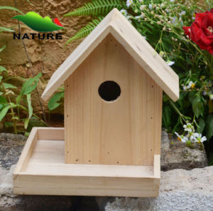 Eco-Friendly One Hole Wooden Bird Cage, Wooden Bird House