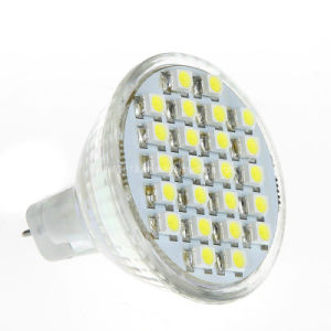 Halogen Replacement 12V DC MR11 Gu4 24 3528 SMD LED Spotlight Bulb Lamp pictures & photos