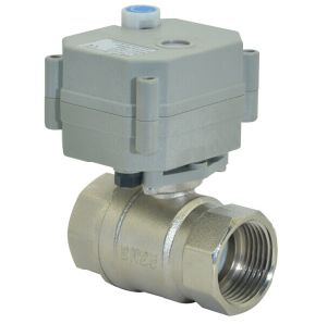 "1""Miniature 2 Way Nickel Plated Brass Electric Motorized Control Ball Valve (T25-N2-B) pictures & photos"