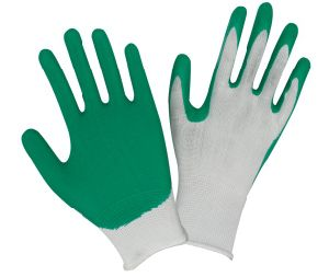 Textured Latex Coated Palm and Fingertips Latex Coated Gloves N001 pictures & photos