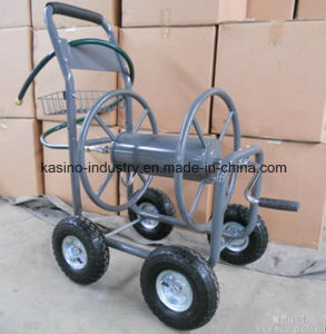 Manufacture High Quality Garden Rolling Hose Reel Cart with Basket (TC1850A) pictures & photos