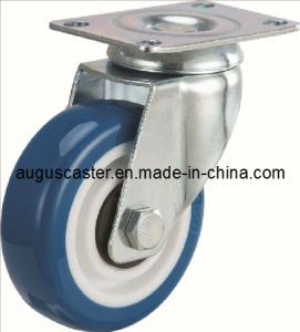 Medium Duty/Swivel Blue PU Caster