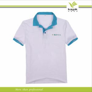 Polyester White Light Blue Sports Polo Shirt For School Uniform