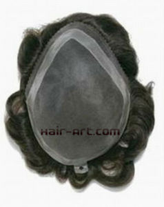 Lace & Injected Toupee with Lace Front & Skin Perimeter & Mono Top