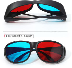 Thicken Red Cyan Anaglyph 3D Glasses Plastic
