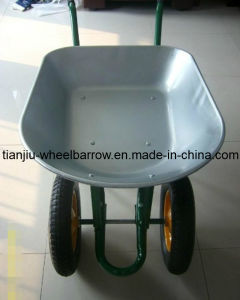 Double Pneumaticor Air Wheel Wheelbarrow (WB7200A) pictures & photos