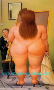 Oil Painting, Fernando Botero Oil Painting, Oil Painting Rerproduction