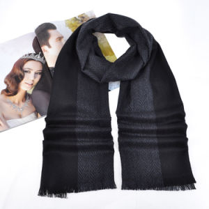 Silk&Cashmere Blended Luxury Herringbone Scarf (12-BR290607-1.1) pictures & photos