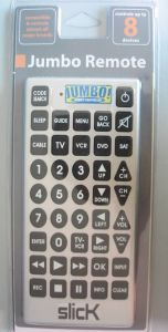 8-in-1 Jumbo Universal Remote Control (JR003)
