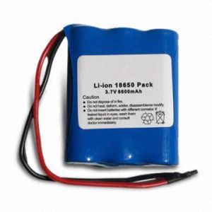 Li-ion 18650 Battery for Headlight Applications Portable Equipments (AA-66) pictures & photos
