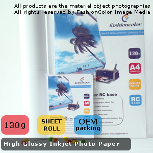 High Glossy Inkjet Photo Paper 130G/M2