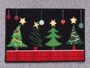 Nylon Rugs, with Christmas Patterns, #3