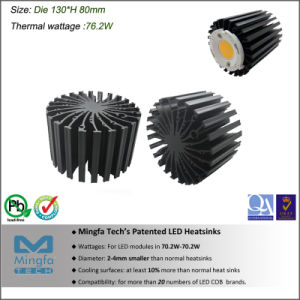 High Power Aluminum Extrusion LED Heat Sink 70W