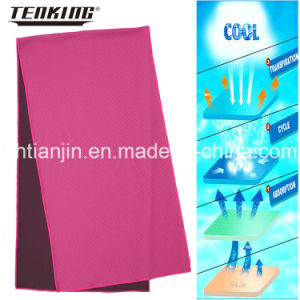 Hotsale Polyester Mesh Fabric Pink Sports Towel