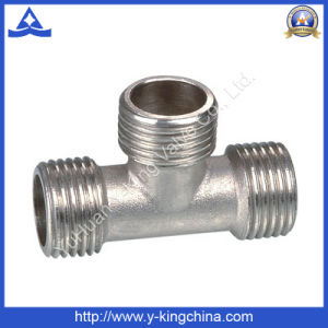 Nickel Plated Brass Male Nipple Tee Fitting (YD-6034) pictures & photos