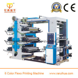 High Speed 6 Color Paper Flexographic Printing Machine pictures & photos