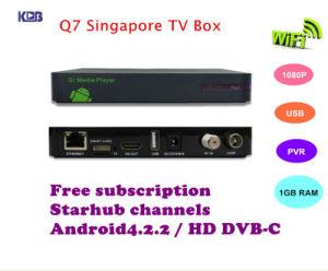 China Lastest Q7 Singapore Starhub Box HD Android DVB-C Blackbox