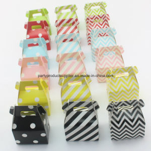 Customized Creative Chevron Wedding Candy Box
