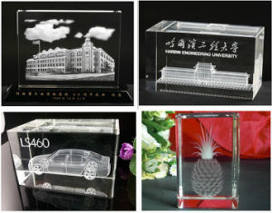 3D Laser Engraving K9 Crystal Paperweight pictures & photos