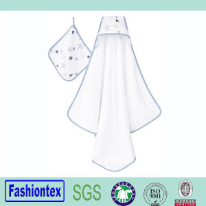 Plain Muslin Shower Towels Baby Bath Hooded Towel pictures & photos