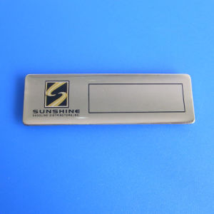 Existing Mould Name Badge Printing Logo Metal Name Badge pictures & photos