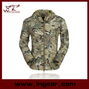 Stealth Hoodie Shark Skin Soft Shell Jacket Camo Jacket pictures & photos