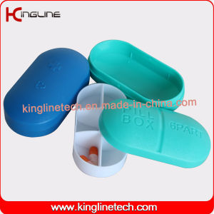 Hote-Selling Plastic 6-Cases Pill Box (KL-9090) pictures & photos