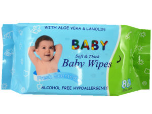 80PCS Soft Thick Baby Skin Wipes Fresh Scented Wet Tissue China Supplier pictures & photos