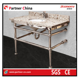 Bathroom Stainless Steel Wash Bsin Vanity Base (10-104) pictures & photos